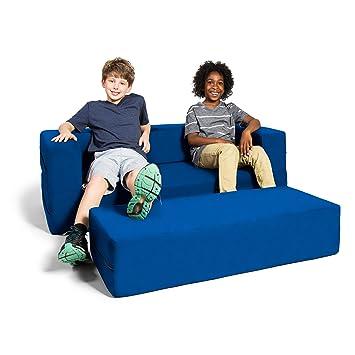 Amazon Com Jaxx Zipline Kids Sofa Large Ottoman 3 In 1 Fold Out