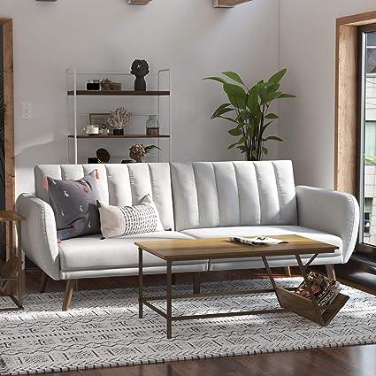 Wood Novogratz Sofabed One Dark Grey Linen