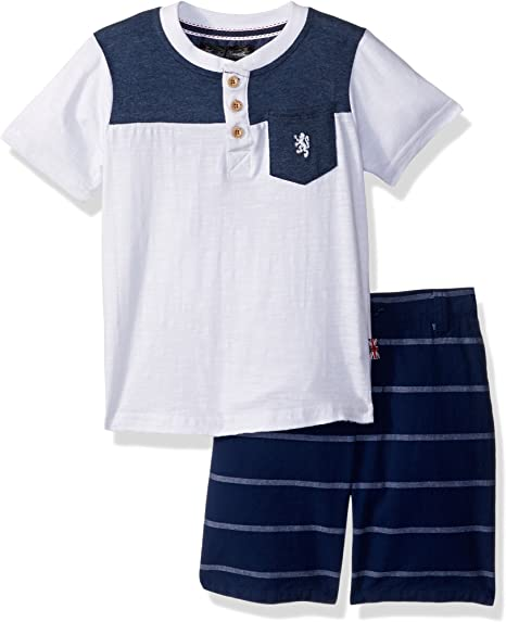 English Laundry Juego De Camisetas Y Rayas Para Ninos De Chambray Multi Plaid 4 Anos Amazon Com Mx Ropa Zapatos Y Accesorios