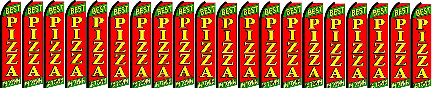 Pack of 20 hardware not included best pizza King Swooper Feather Flag Sign