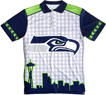 Klew NFL temático Polo, Hombre, Seattle Seahawks, Extra-Large ...