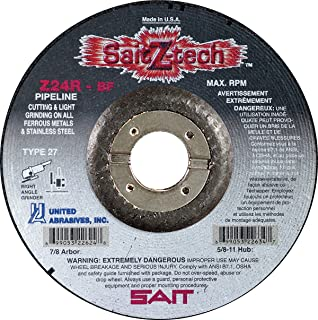 United Abrasives-SAIT 26005 4 by 2 by 5//8-11 CA16 M-B Type 11 Cup Wheel 12-Pack