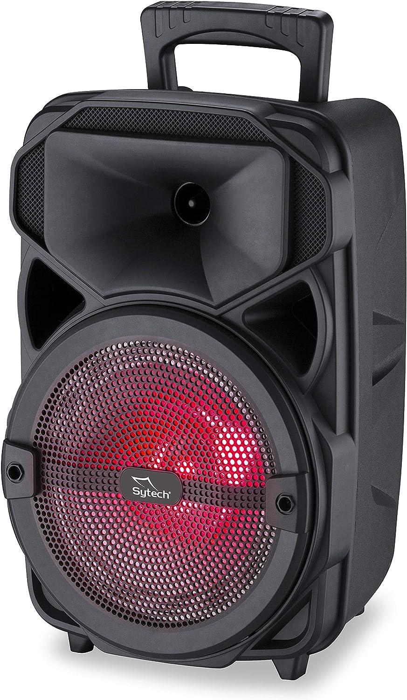 Sytech - SYXT14BT - Altavoz Bluetooth Profesional con Radio, Negro, 1 x 8