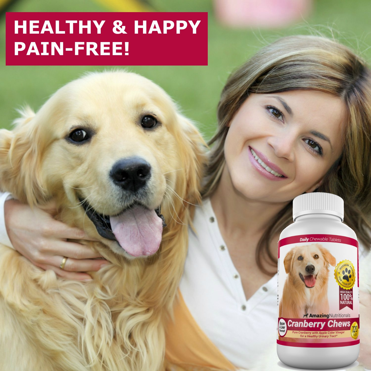 Amazing Cranberry For Dogs Pet Antioxidant Urinary Tract