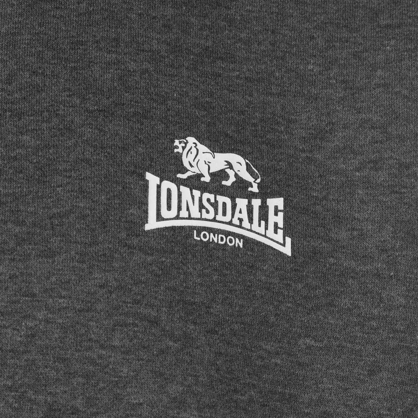 con 2 rayas Lonsdale Jersey de manga larga para hombre cuello redondo