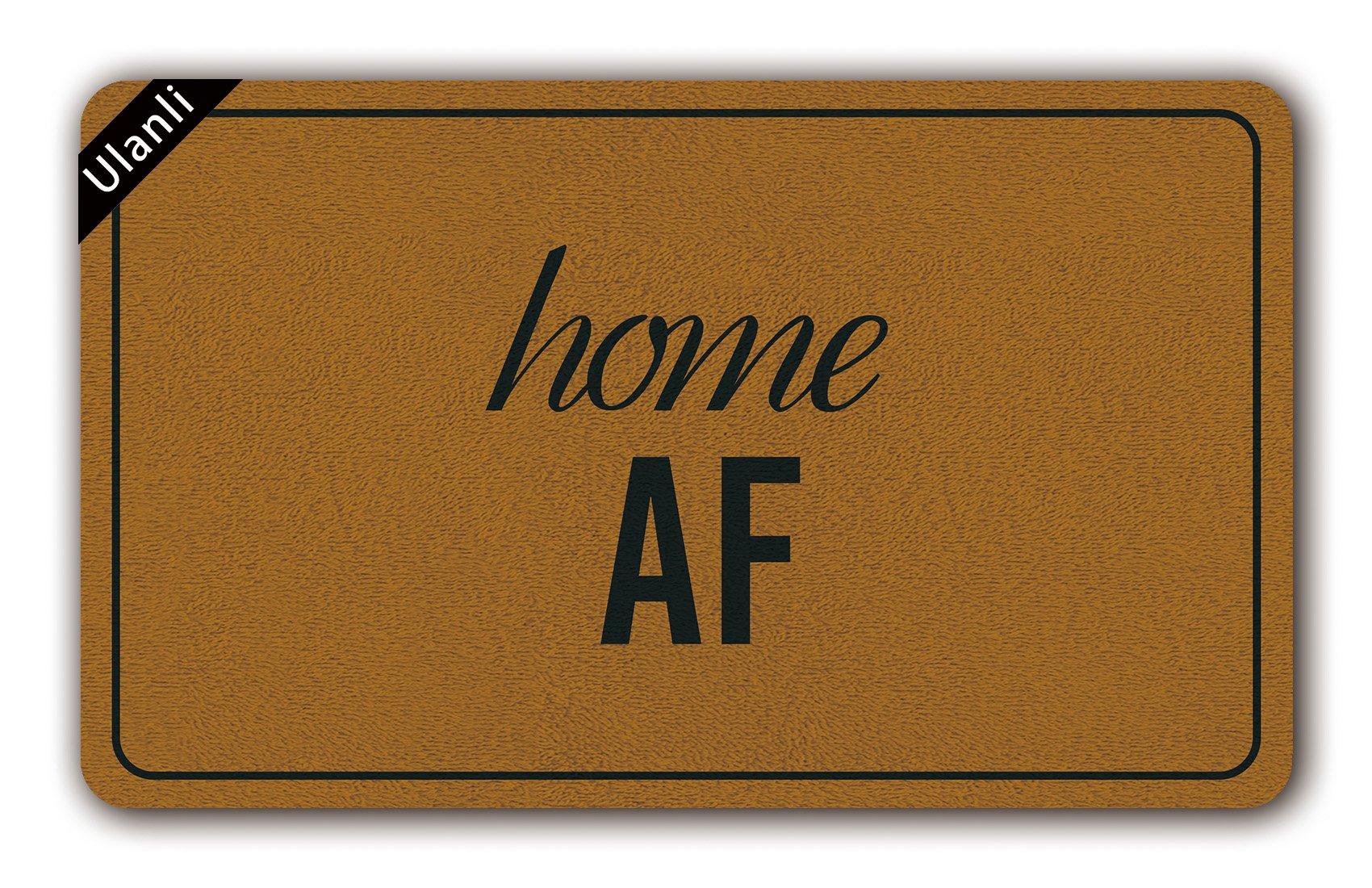UlanLi Home AF Doormat, Door Mat, Welcome Mat, Housewarming Gift, Funny Doormat, Mature Home Decor, Custom Doormat, Personalized Doormat, As Fuck2 23.6 x 15.7 Entrance Floor Mat