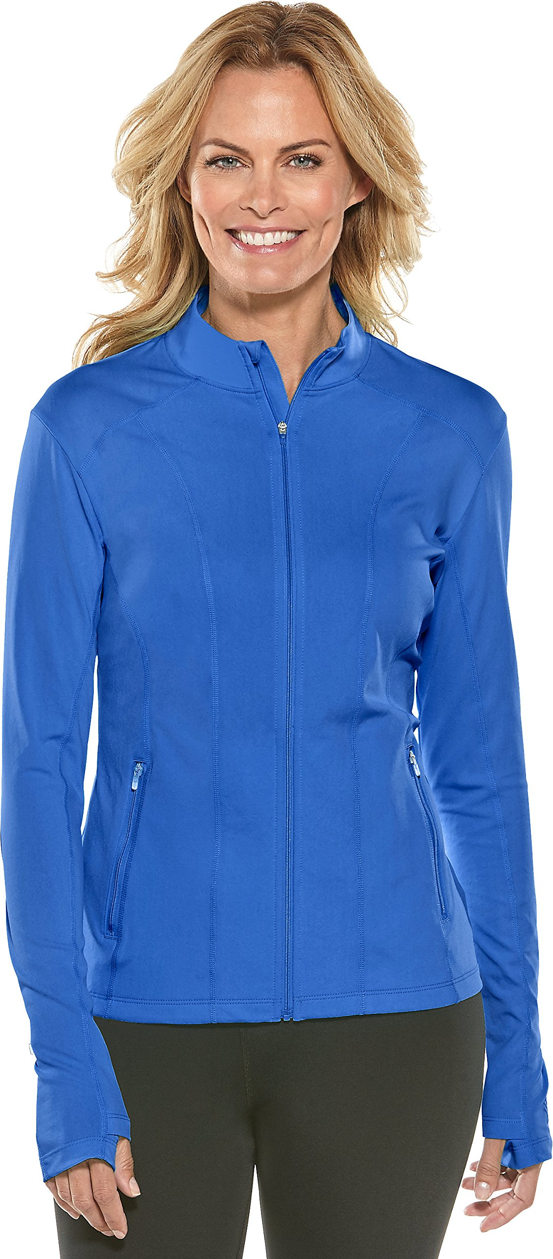 Coolibar UPF 50+ Women's Malawi Swim Jacket - Sun Protective (Large- Baja Blue) by Coolibar