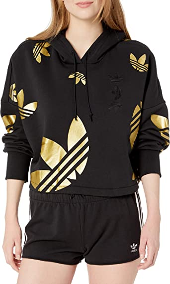 Adidas Originals Sweat shirt à capuche pour femme Grand logo