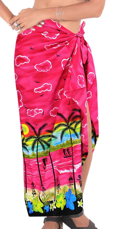 Pareo Sarongラップ水着Bathing Suit水着カバーアップBeachwear Palm Tree B06WGR6S42