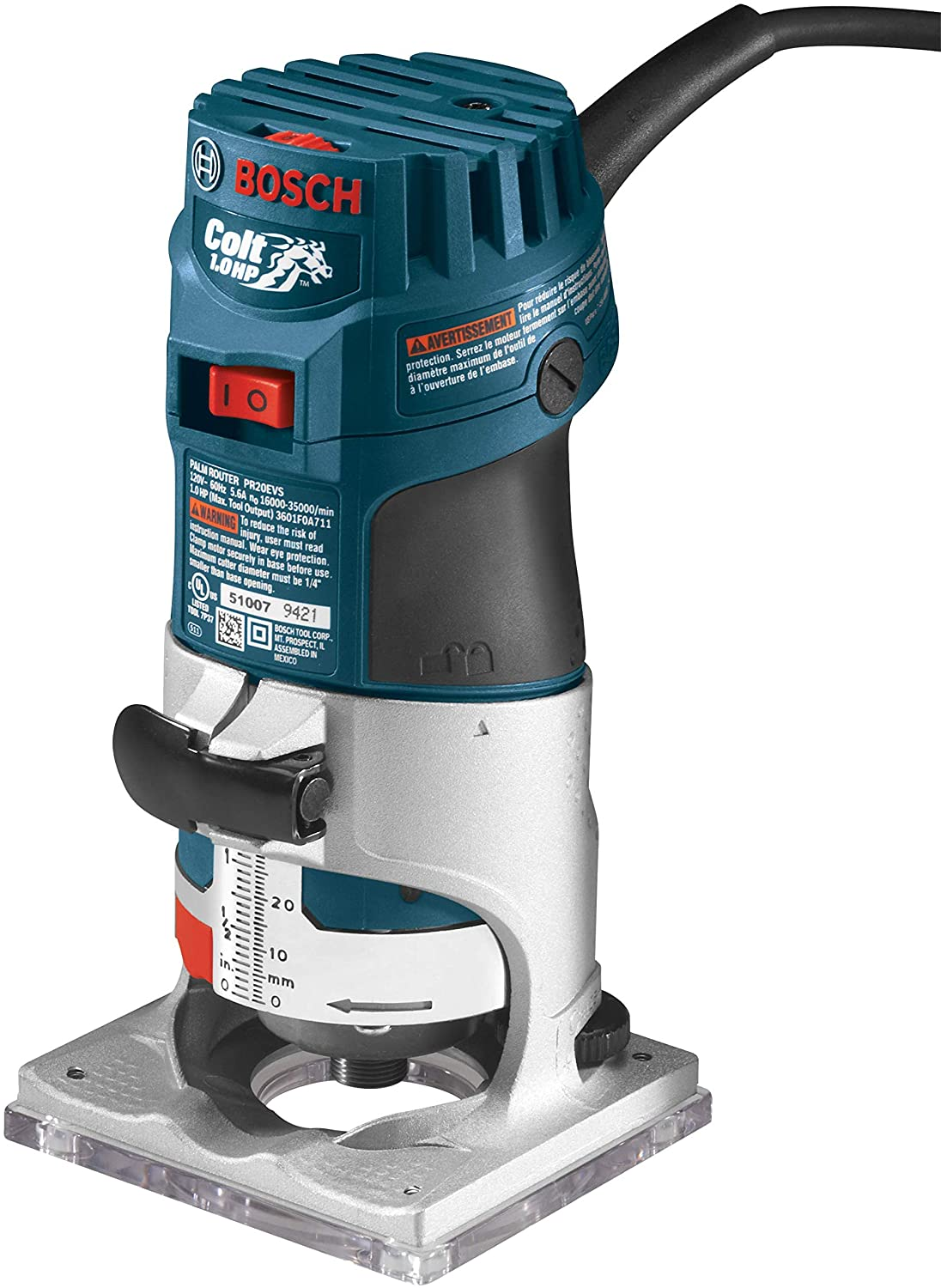 Bosch PR20EVS Variable-Speed Palm Router