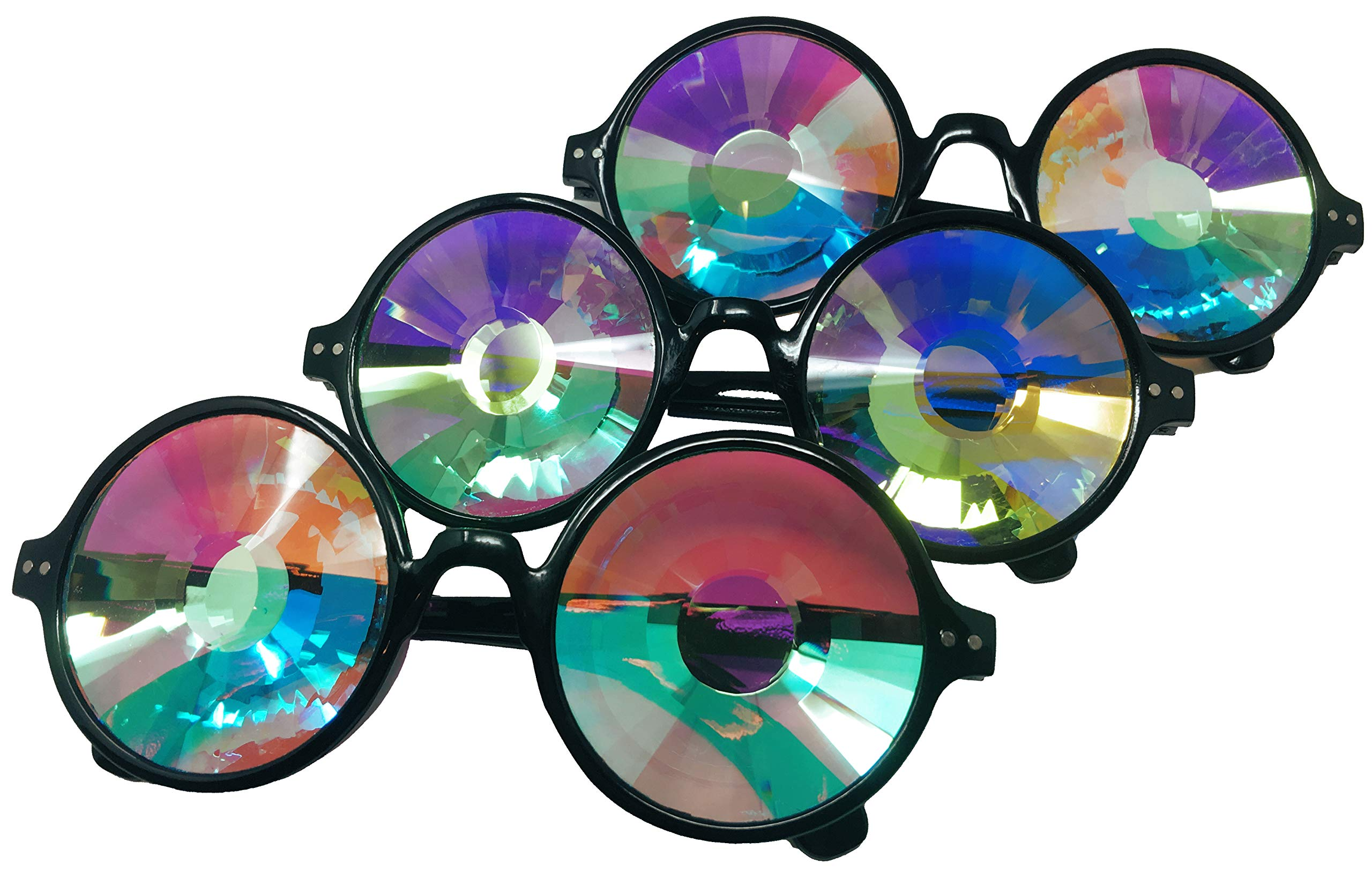 Portal, Worm Hole, Kaleidoscope, Refraction Glasses for Festivals and Raves
