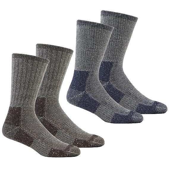 Calcetines gruesos para hombre, térmicos, para senderismo, trabajo, para botas, tallas 40-45, disponible en paquetes de diferentes opciones: Amazon.es: Ropa ...