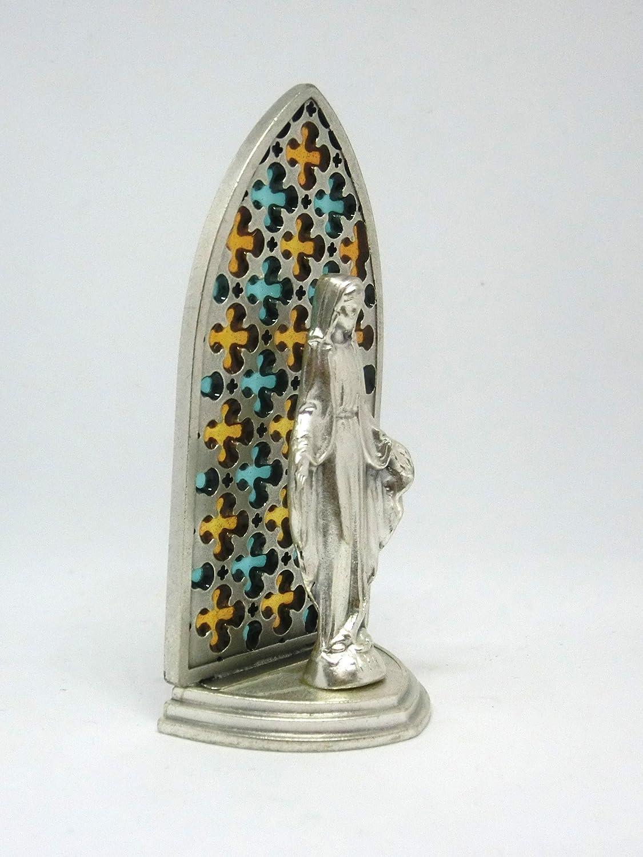 20.079.21/002/vitrine Argent avec figurine maria Vierge Miraculeuse /émaill/ée /à la main 8,5/cm
