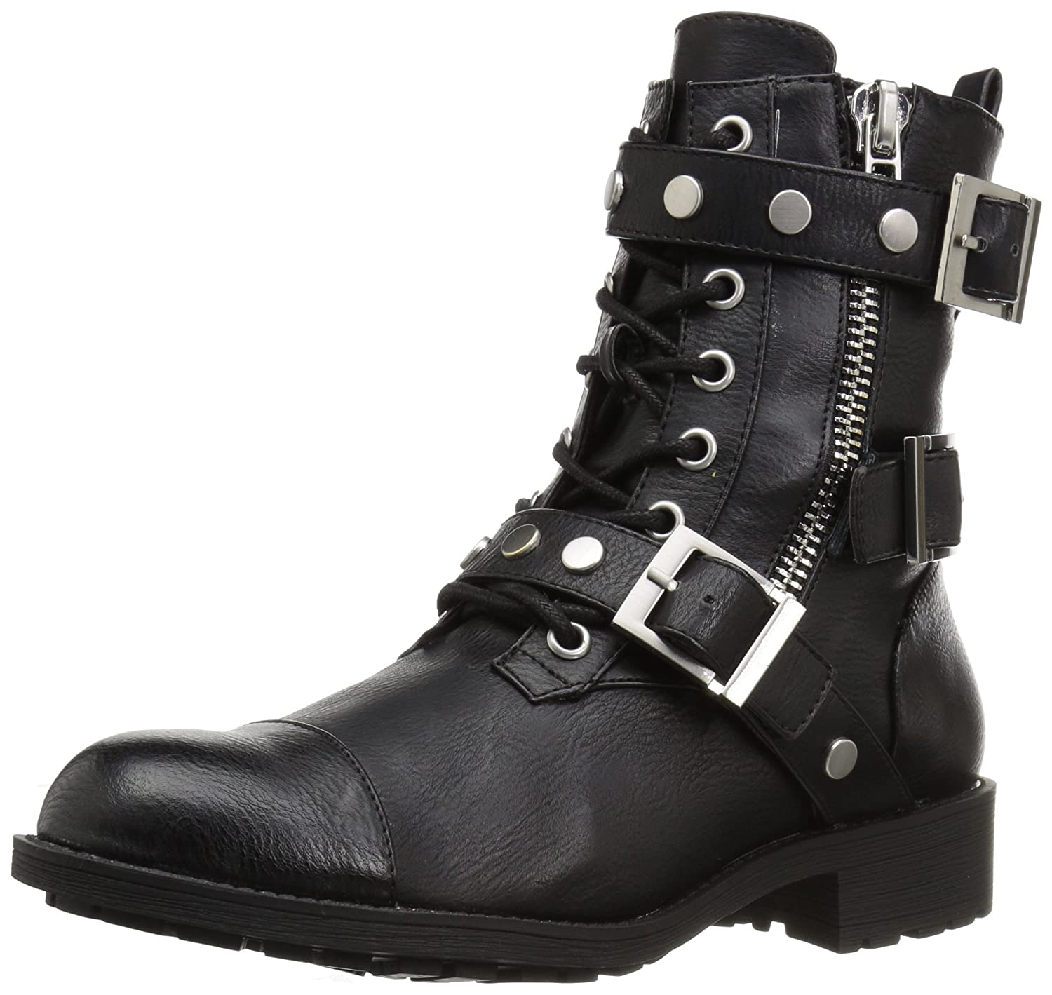 Style by Charles David Women's Caden Motorcycle Boot B06XYSTD74 6 B(M) US|Black