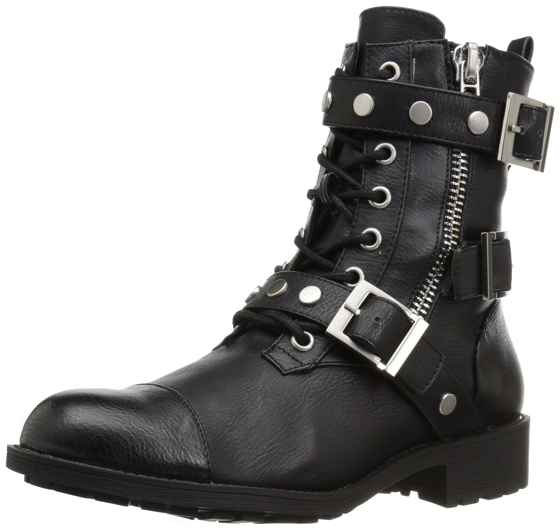 Style by Charles David Women's Caden Motorcycle Boot, Black, 7.5 Medium US