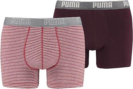 PUMA Stripe 0204 Boxer 2P Caleçon à Rayures pour Homme S