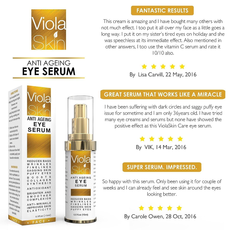 uSkin Care - Suero Anti Edad Para Los Ojos Hinchados Y Con Ojeras - El Mejor Suero Anti Arrugas Para Ojos - Clínicamente Probado - ¡Reduce Las Arrugas, ...