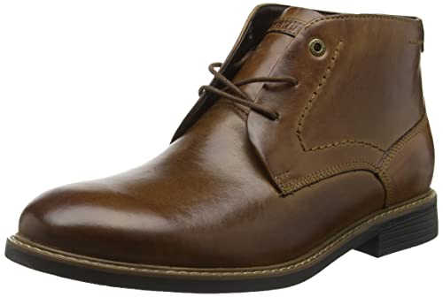 Rockport Men's Classic Break Ankle Boots, Brown (Dark Brown Leather), 7.5 UK