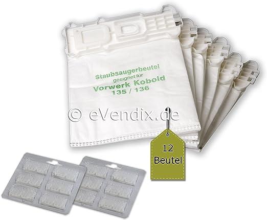 24 piezas Juego de filtros para Vorwerk Kobold VK 135/136: 12 ...