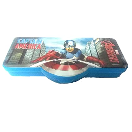Buy ThemeHouseParty Captain America Cartoon Theme Shaped Kids Plastic Pencil Box With Compartment Return Gifts For Birthday Party Size