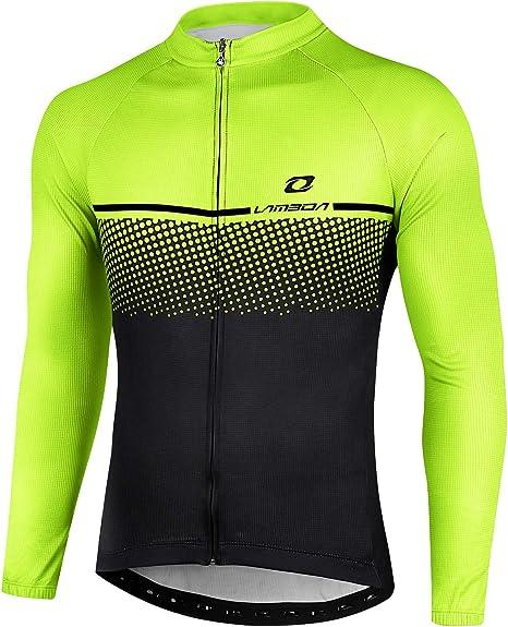LAMEDA Maillot Ciclismo Hombre Ropa Camiseta Jersey Bicicleta MTB con Mangas Largas para Entretiempo Y Invierno: Amazon.es: Deportes y aire libre