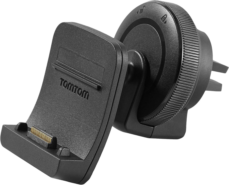 TomTom Soporte para rejilla de ventilación - Soportes para navegadores (Coche, TomTom, GO 500 GO 5000 GO 510 GO 5100 TRUCKER 500 TRUCKER 5000, Negro)