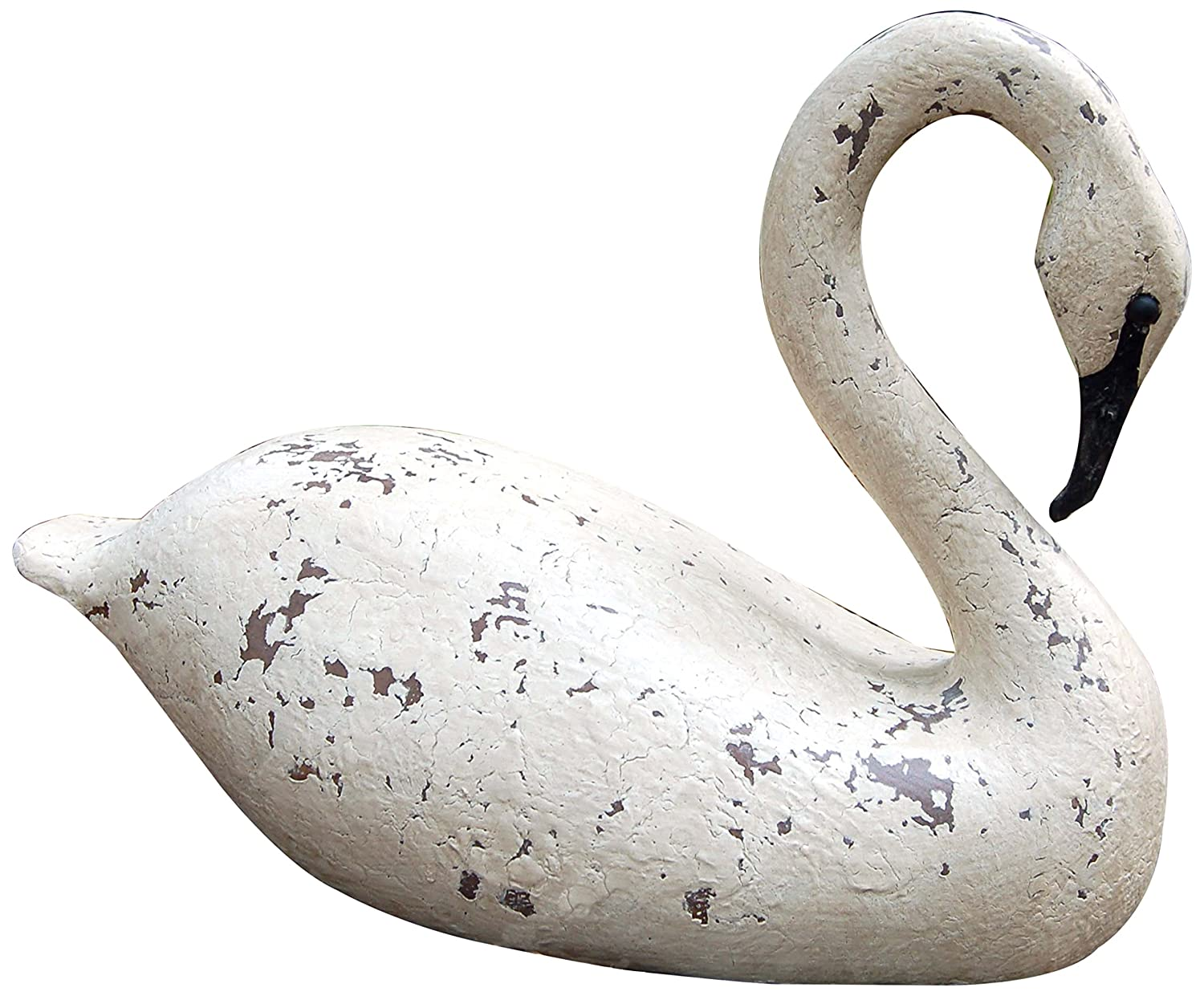 Hickory Manor House Vintage Blanc Cape Fear Swan for Home Decor, 16-Inch