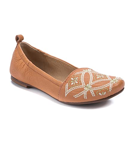 Globe Embroidered Slip-On Flats