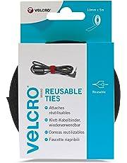 VELCRO Brand One-Wrap Reusable Ties | 10mm x 5m in Black