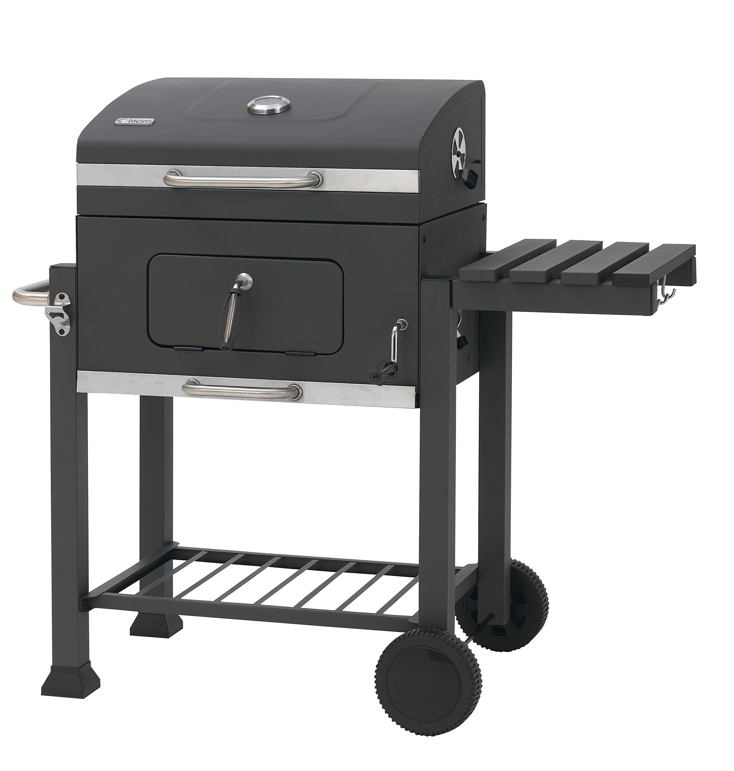 charcoal bbq garden trolley grill barbecue grilling 2 racks large outdoor patio ebay. Black Bedroom Furniture Sets. Home Design Ideas