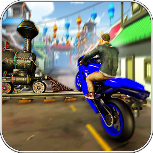 Train Bike Stunt Fever Free 2018 : games race racing car blast bmx rush city cycle chase drag  driver dirt hill climb kids kitty man pro 3d trick riding (Kitty Star)