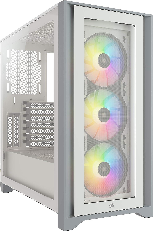 gabinete gamer mid tower atx Corsair 4000x rgb blanco