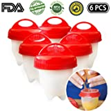 Egg Cooker Hard & Soft Maker Egg Cooker,BPA Free, Non Stick Silicone, As Seen On TV (6PACK)