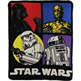 Star Wars Classic Character lightweight Fleece Throw Blanket