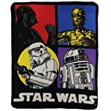 Amazon Price History for:Star Wars Classic Character lightweight Fleece Throw Blanket