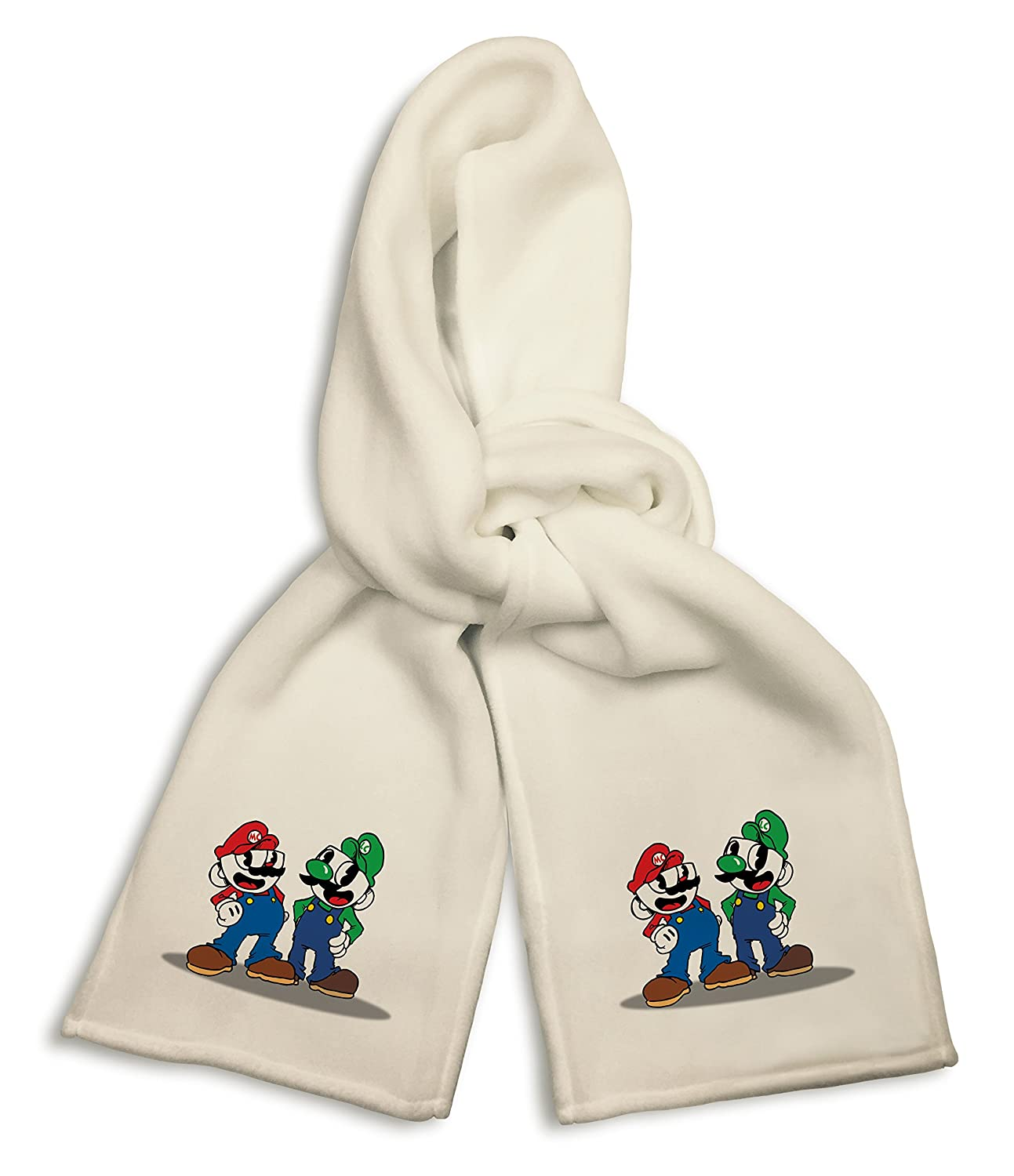 White Winter Scarf Mug Brothers Red and Green Overalls Funny Parody