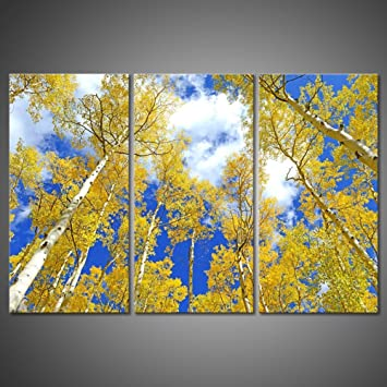Amazon.com: Modern Picture Canvas Painting Wall Art Forest Landscape ...