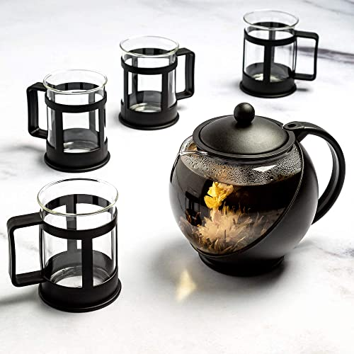 Primula Half Moon Glass Teapot with Removable Infuser Cups