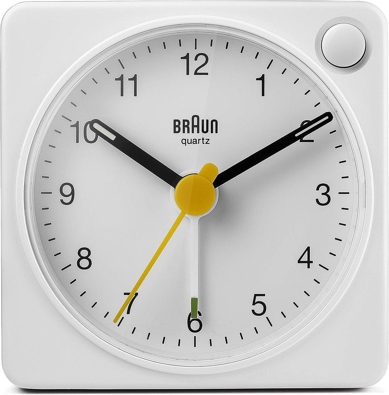Braun BC02W Travel Alarm Clock White