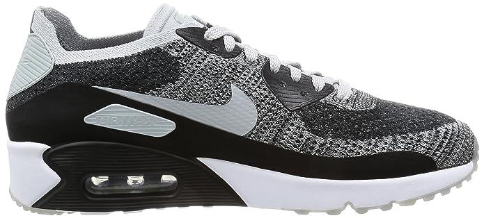 dc9ad95744 Amazon.com   Nike Men's Air Max 90 Ultra 2.0 Flyknit, Black/Wolf Grey-Pure  Platinum, 10.5 M US   Road Running