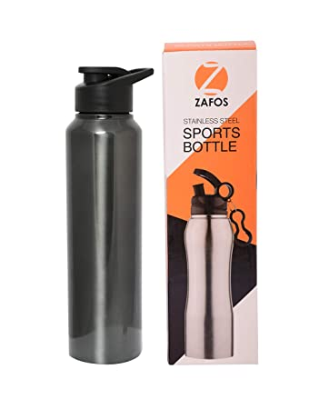 5a8e992dc1 Buy Zafos Stainless Steel Sipper Water Bottle, 750ml, (Glossy Black ...
