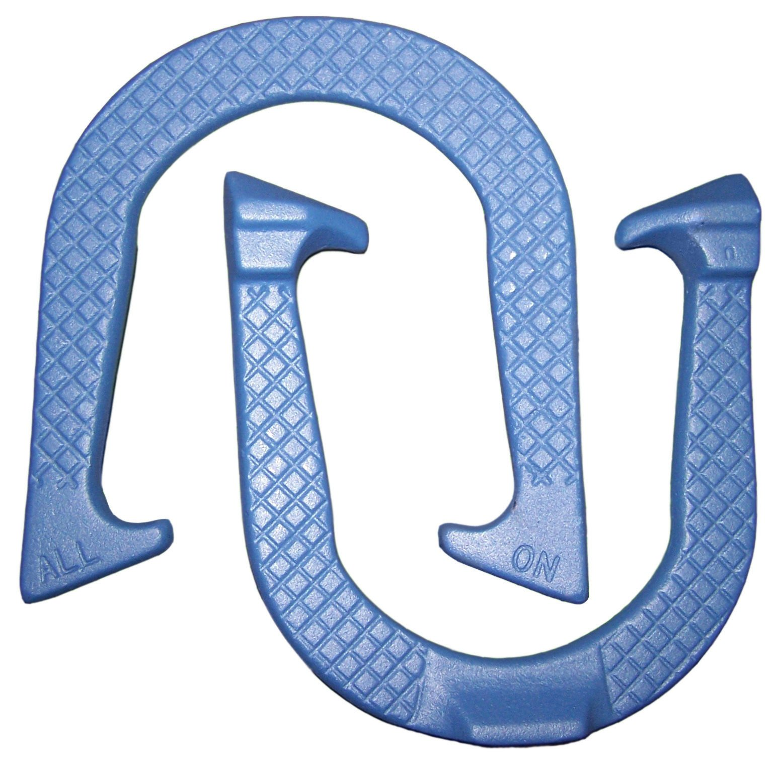 All-On Professional Pitching Horseshoes- Made in The USA! (Blue- Single Pair (2 Shoes))