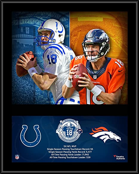 Peyton Manning Denver Broncos Indianapolis Colts 12 quot  x 15 quot   Sublimated Retirement Collage Plaque ed75fbf28
