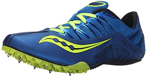 Saucony Men's Spitfire Track Spike Racing Shoe, Royal/Citron, ...