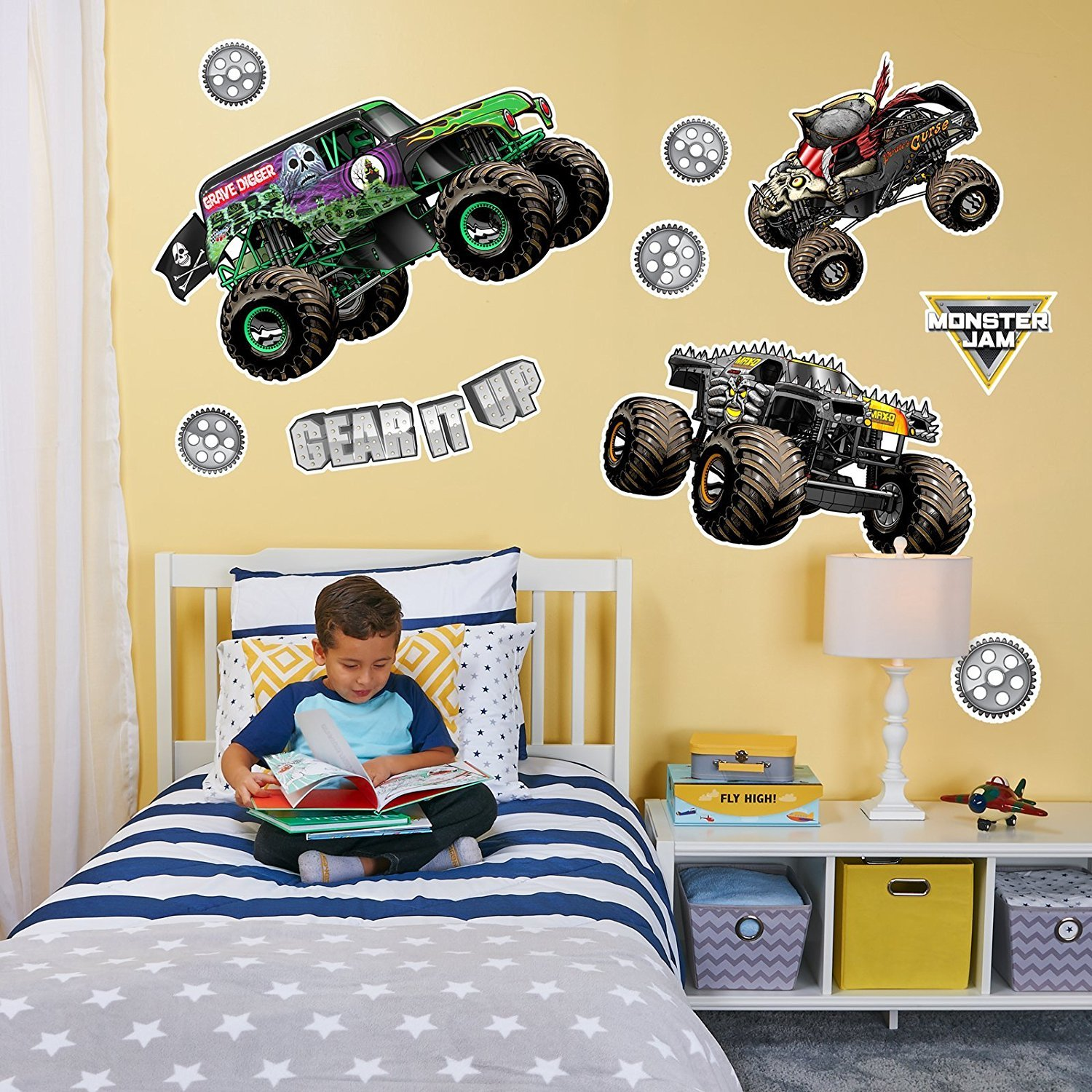 BirthdayExpress Monster Jam Room Decorations Large Wall Decal ...