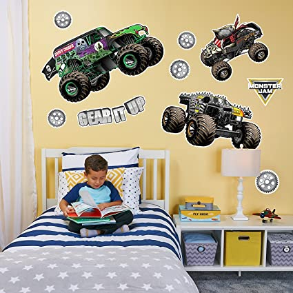 birthdayexpress monster jam room decorations large wall decal