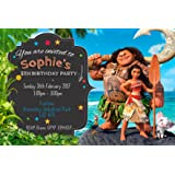 Moana Party Invitations Envelopes Birthday Invites Click Customize Now For Prices