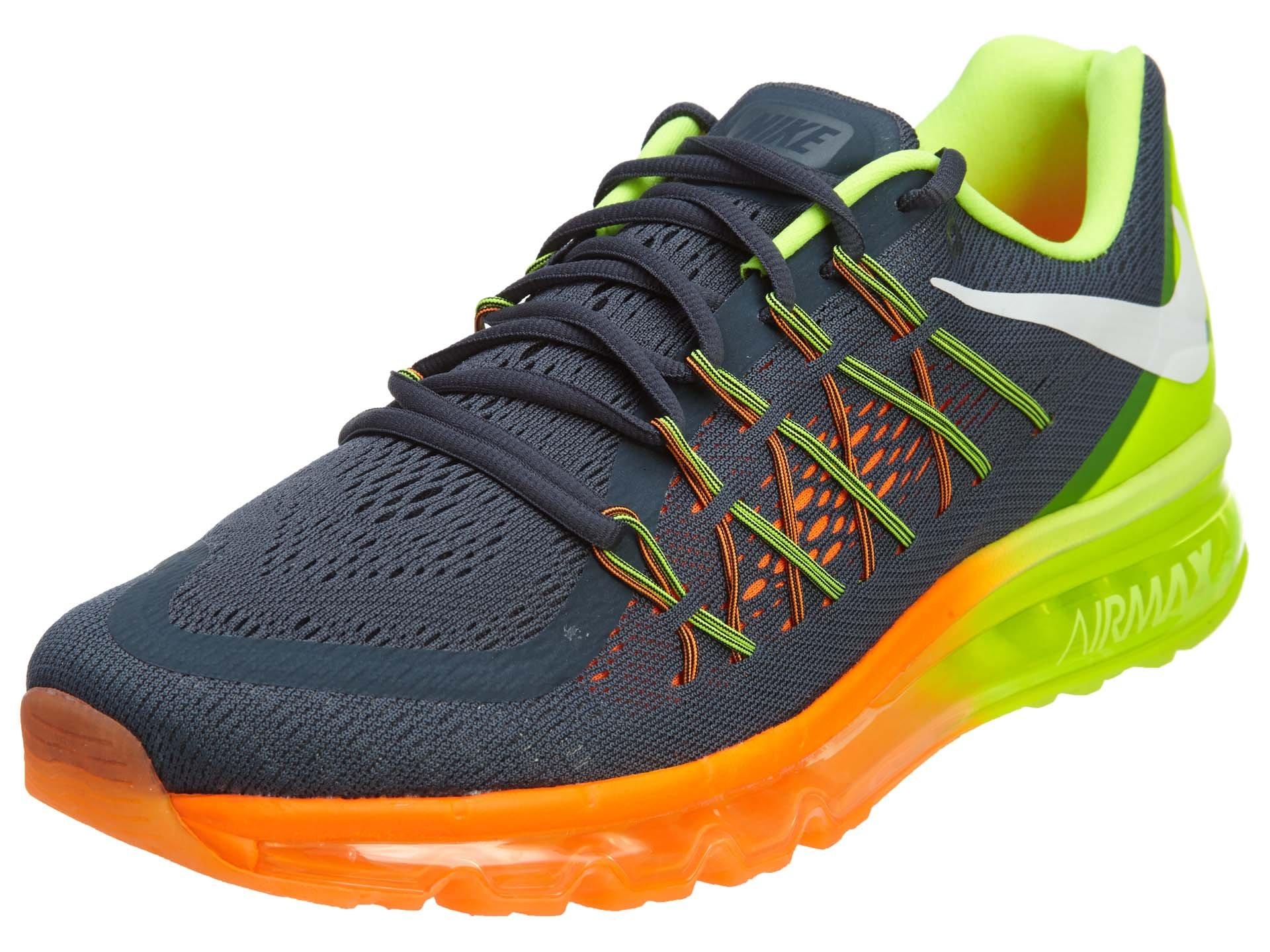 best service bc8e4 58054 Galleon - Nike Men s Air Max 2015 Clssc Chrcl White Vlt Ttl Orng Running  Shoe 9.5 Men US