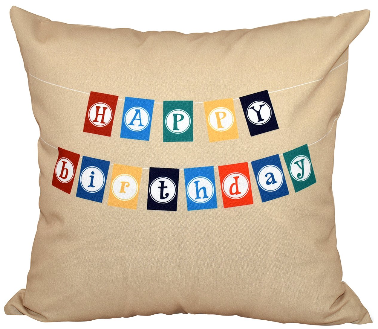 E by design O5PWHN527TA9-20 Printed Outdoor Pillow