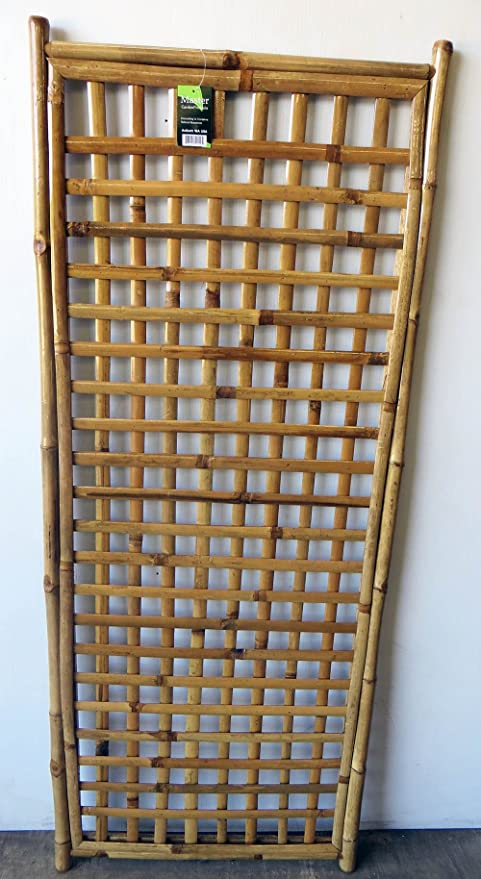 Amazon.com : Framed Bamboo Lattice Panel, square pattern opening, 24 ...